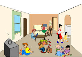 living room with tv clipart clip art library