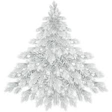 Blue White And Silver Christmas Tree - blue and white christmas tree clipart clipartxtras