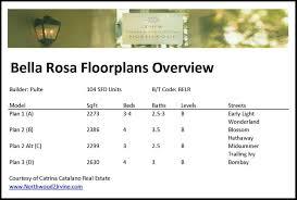 pulte floor plans bella rosa floorplans by pulte homes in northwood ii irvine