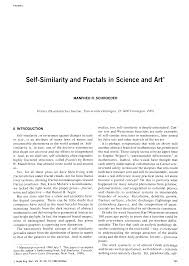 aes e library self similarity and fractals in science and art