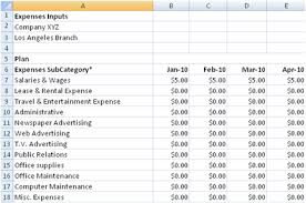 Excel Spreadsheet For Business Expenses by Departmental Budgeting