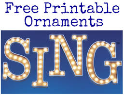 free printable sing ornaments decorate your tree with characters