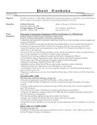 Sample Resume For Sharepoint Developer Sharepoint Administration Sample Resume Example Sponsorship Letter