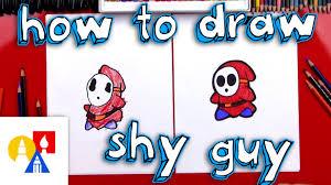 draw shy guy mario