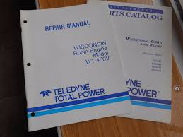 wisconsin robin repair manual u0026 parts catalog for engine model w1