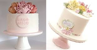 wedding cake name personalised cakes with simple pretty name plaques cake