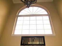 wonderful brick top arched windows frame with white painted as diy
