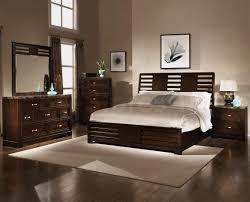 dark brown wooden low profile wood in beige painted wall decor