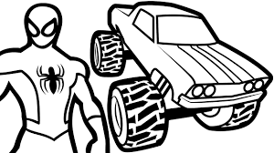 monster truck coloring books spiderman and monster truck coloring pages for kids coloring book