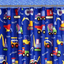 Boy Bathroom Shower Curtains Cotton Construction Equipment Shower Curtain 39 99 For The Boy