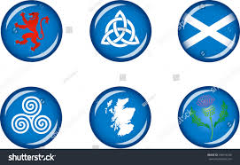 scotland glossy icons set set vector stock vector 296416196