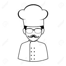 cuisine dessin animé chef moustache platterie restaurant cuisinier cuisine dessin animé