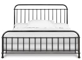 modern design metal frame bed in white gallery with wrought iron