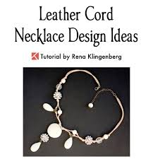 leather necklace design images Leather cord necklace design ideas jewelry making journal jpg