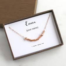 morse code necklace personalized custom morse code necklace custom name necklace personalized