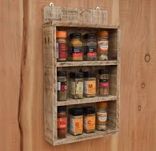 spice cabinets for kitchen rustic spice shelf kitchen spice rack cabinet made from