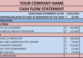 accounts payable and receivable template excel free cash flow
