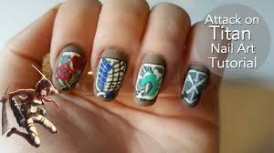 design attack attack on titan nail tutorial