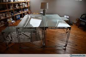 bureau metal et verre bureau verre et métal beau design a vendre 2ememain be