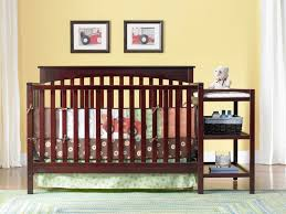 Modern Convertible Crib by Modern Crib With Changing Table Attached Designs Decoration