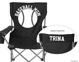 baseball tent chair personalized folding chair baseball by quotablelife
