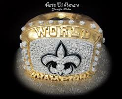 saints super bowl ring cake by artediamore on deviantart