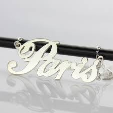 name charm necklace custom name necklace sterling silver