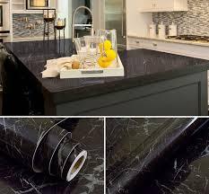 vinyle cuisine noir marbre imperméable en vinyle auto adhésif papier peint