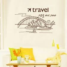 creative travel sydney theatre landscape wall stickers living room
