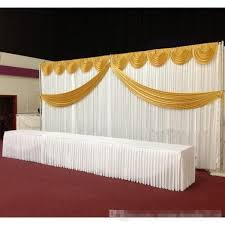 wedding backdrop aliexpress white silk wedding backdrop curtains simple design swag satin