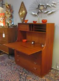 Secretary Desk With Drawers by Mid Century Secretary Desk Fits Office With Elegant Hunter Homesfeed