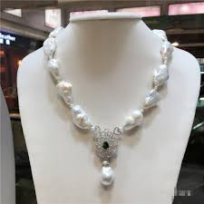 pearl necklace styles images Hot sell european american styles natural big white baroque pearl jpg