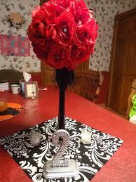 Black And Red Vase Centerpiece Wedding Black Red Silver My Dream Wedding