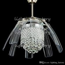Ceiling Fan And Chandelier 2017 42 Inch Led Ceiling Fans Light Ac 110v 220v Invisible Blades