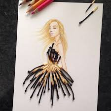 armenian illustrator completes his cut out dresses with everyday