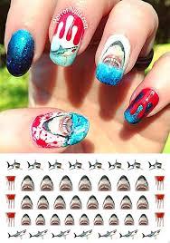 amazon com great white shark set 1 waterslide nail art decals