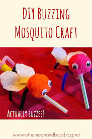 buzzing mosquito craft for children pom poms pipes and craft
