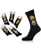 Minion Socks Adults 3 Pairs Of Mens Boys Official Licensed Despicable Me U0027minions