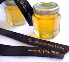 personalized ribbon for wedding favors personalized ribbons for honey wedding favors e m wedding favors