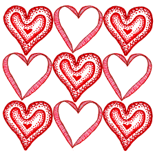 10 best images of valentine u0027s day heart template free printable