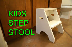 Woodworking Stool Plans For Free by Diy Step Stool For My Daughter Youtube