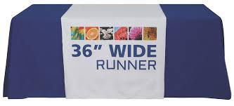 trade show table runner economy dye sub 36 table runner thompson kerr displays