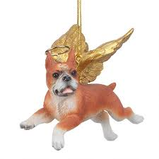 honor the pooch boxer holiday dog angel ornament jh170732