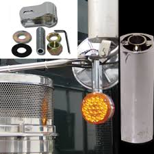 mirror mount beacon lights chrome and stainless steel pedestal light mounting brackets