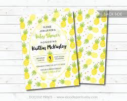 baby shower invitation pineapple baby shower fruit