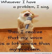 i have a problem i sing