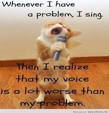 Singing Meme - i have a problem i sing