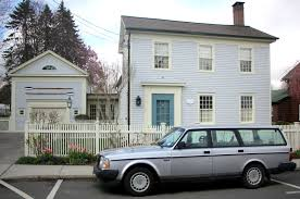 blue volvo station wagon salt water new england preppy cars