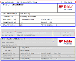 edit tables in template editor tekla user assistance
