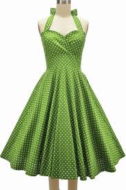 eleanor paige pinup halter sun dress avocado green polka dots
